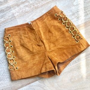 Genuine Suede High Waisted Shorts
